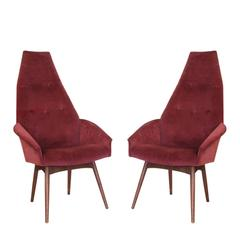 Pair of Adrian Pearsall High Back Armchairs