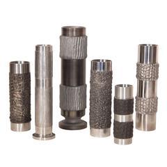 Collection of BMF Brutalist Steel Vases