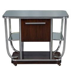 Louis Sognot Bauhaus Rosewood Bar Cabinet