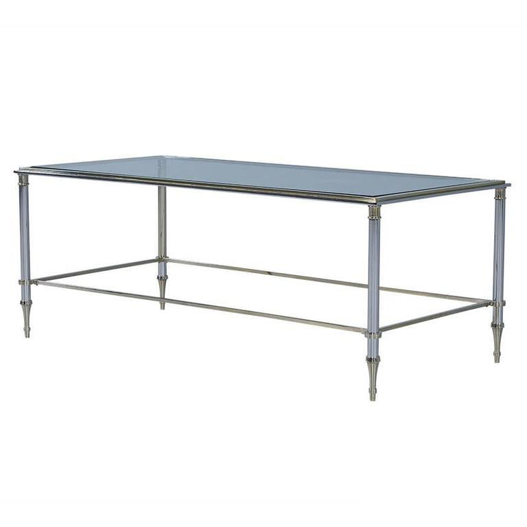 Polished Chrome And Glass Cocktail Table For Sale At 1stdibs