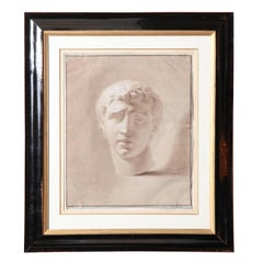 Sepia Drawing of a Caesar in an Ebonized Frame