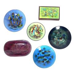 Group of Enamels by Karl Drerup