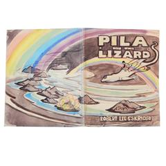 """Pila and the Lizard,"" Important Unpublished Manuscript, 12 Art Deco Watercolors"