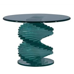 Stacked Glass Sculptural Side Table