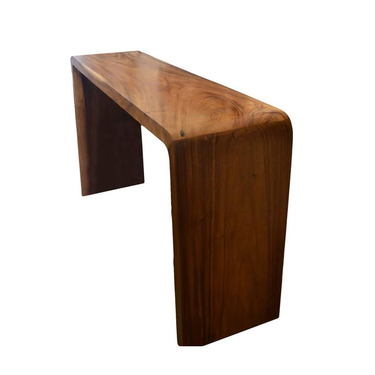 High teak wood console for sale at stdibs