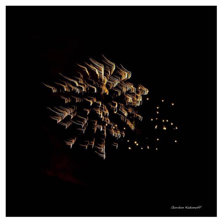 Celestial Fireworks Display Photograph