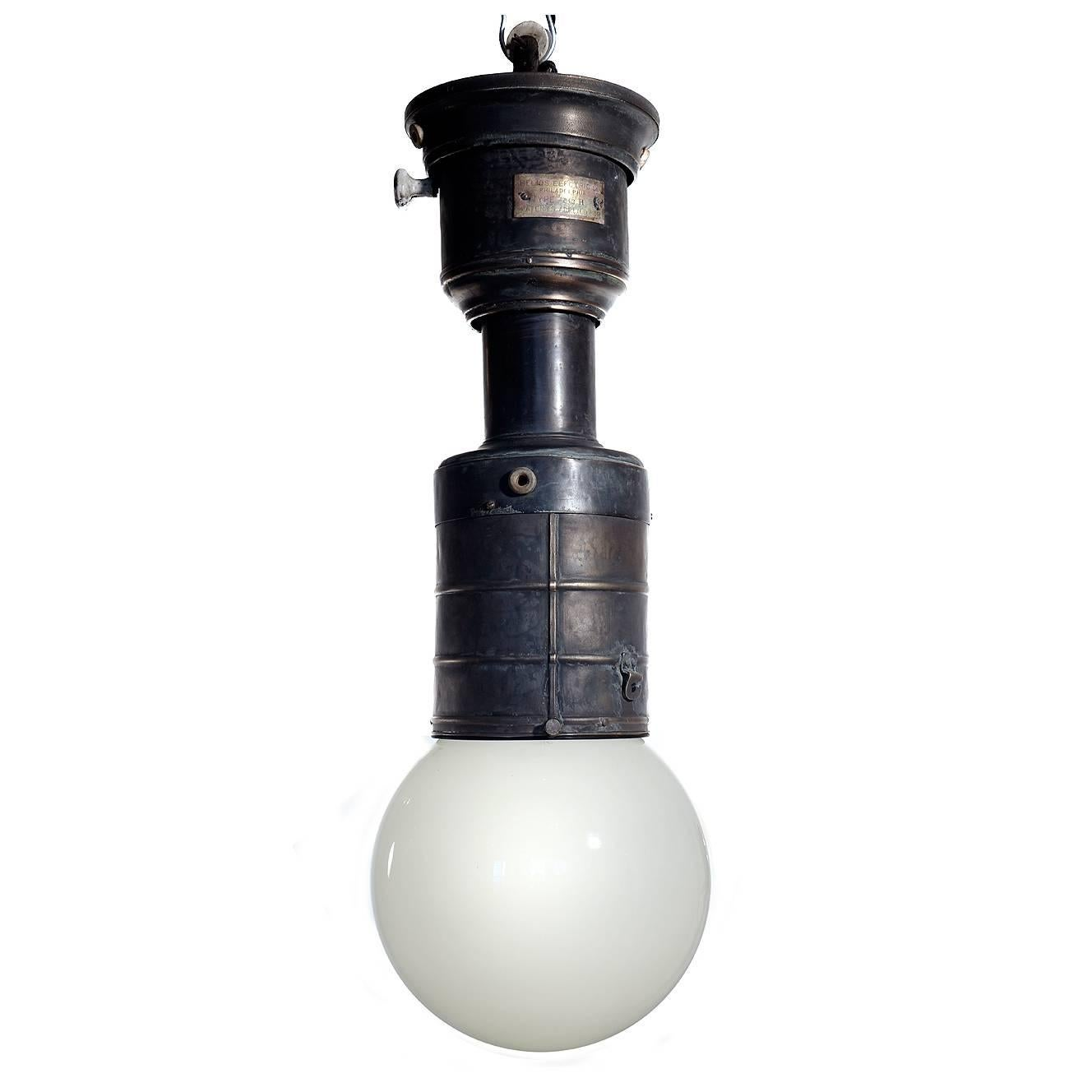 Rare and important early train car hanging light fixture for sale at 1stdibs