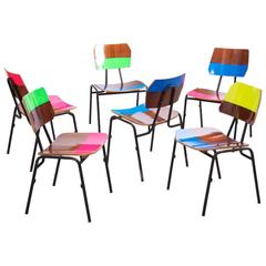 """Working Class Hero Series"" Stacking Chairs by Markus Friedrich Staab"