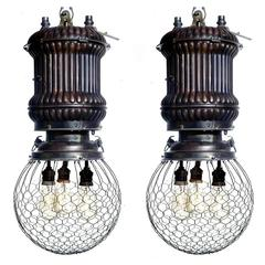 1890s Westinghouse Street Lamps, Matching Pair!
