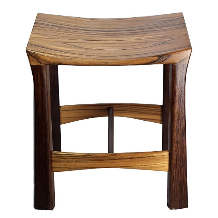 custom studio weng wood and zebrawood stool for sale at 1std
