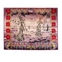 Lucien Coutaud 1950s Original Aubusson Tapestry