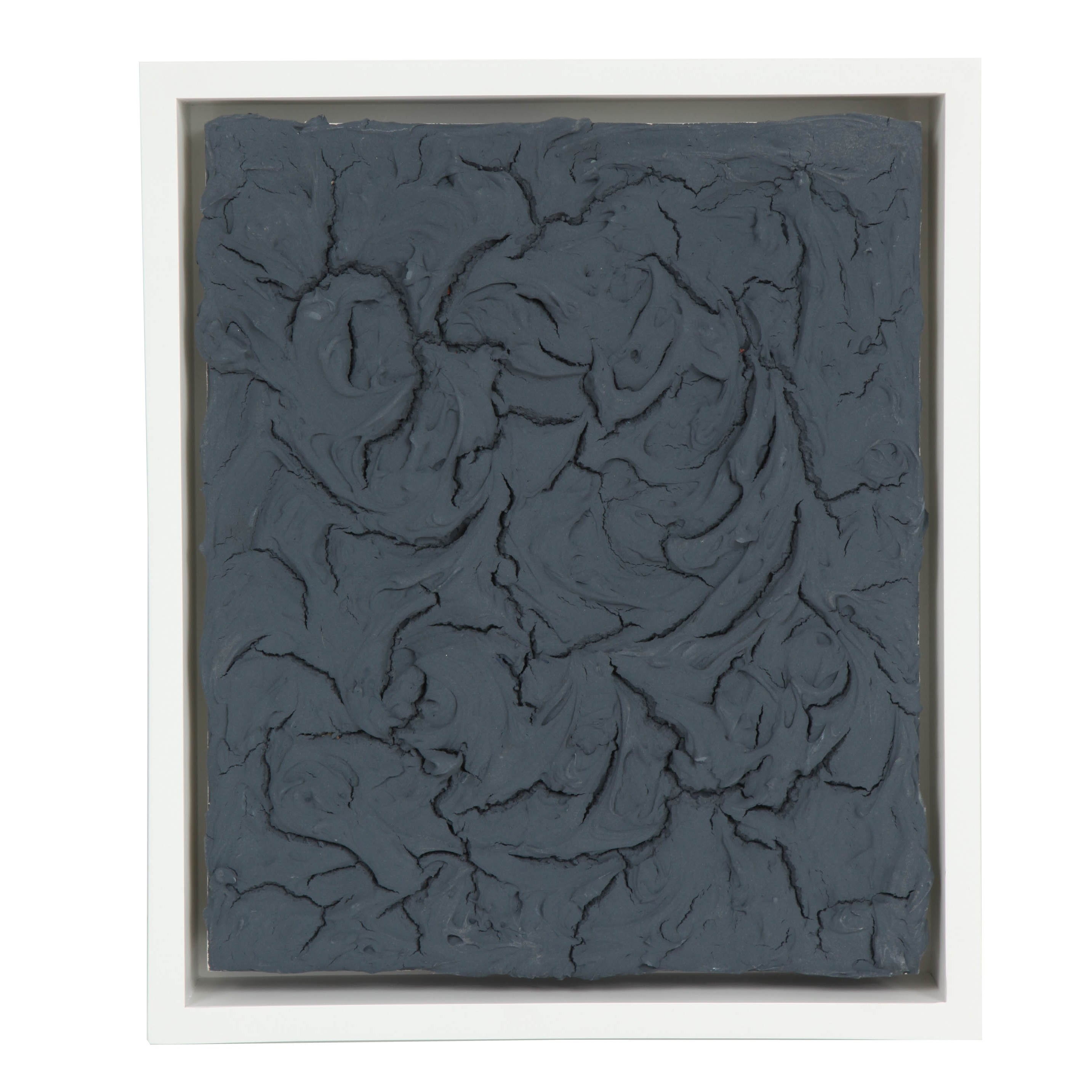 Peter Buchman Charcoal Plaster on Wood with White Frame, 2014