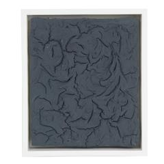 "Peter Buchman ""Charcoal Plaster"" on Wood with White Frame, 2014"