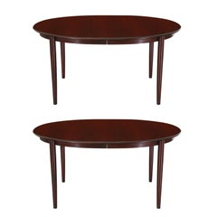 Danish Modern Rosewood Expanding Dining Table