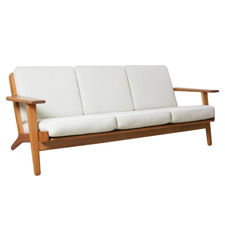 Hans Wegner Ge 290 Sofa For Getama Denmark At 1stdibs