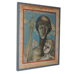 """Creativity"" by Francoise Gilot, Limited Edition of 150, Mourlot, Paris"