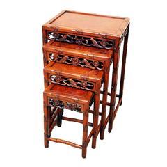 Antique Oriental Hardwood Nest of Tables