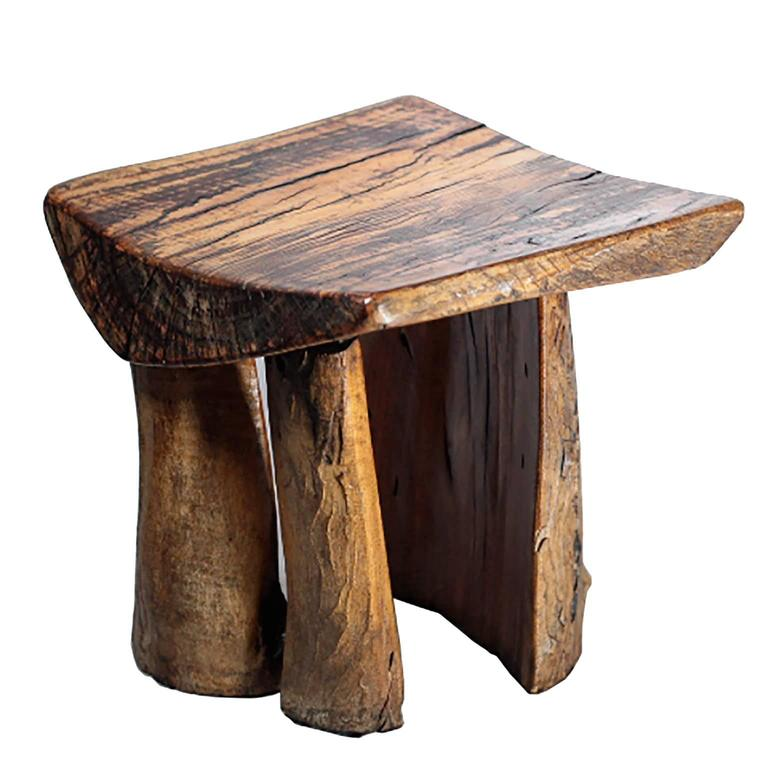 Handmade Rustic Tree Stump Stool At 1stdibs