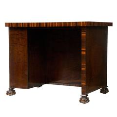 1920s Birch and Rosewood Small Writing Table Desk