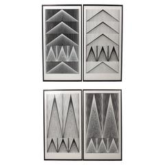 "Two Pair of Rare Screen Prints, ""Cone Line 1"" by Verner Panton"