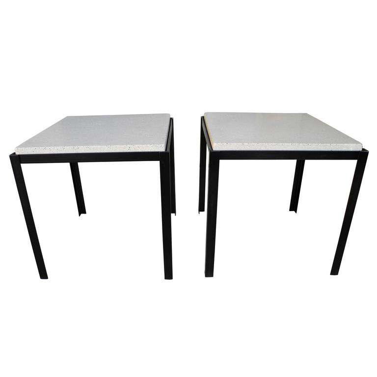 Polished Concrete And Welded Steel Nightstands/Coffee