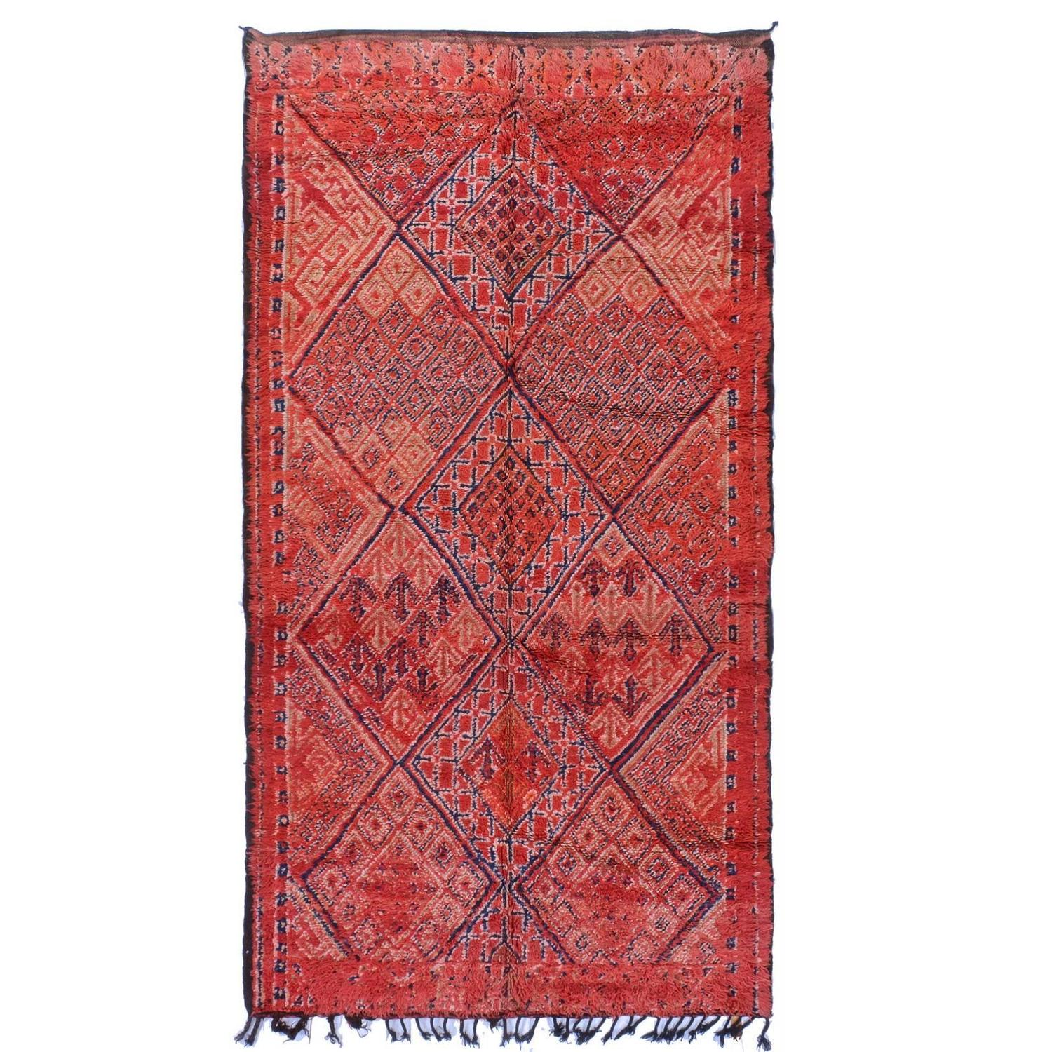 Tribal Vintage Red Moroccan Rug For Sale At 1stdibs