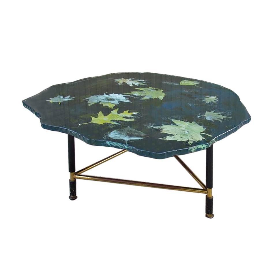 Rare Beautiful Coffee Table Design Fontana Arte Benabe Duillio Dub 1950 At 1stdibs