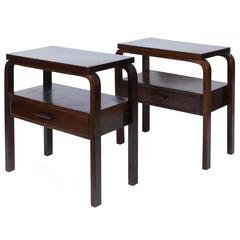 Early Alvar Aalto Pair of Side Tables, circa 1940s