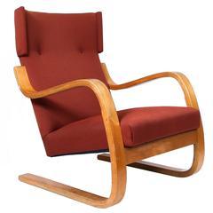 Early Alvar Aalto Cantilevered Armchair, Model 36/86, circa 1930s