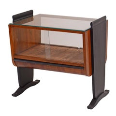 Minibar-Luxury glazed drinks cabinet by Jindrich Halabala