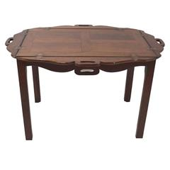 Antique English George III Period Chippendale Mahogany Butler's Tray, circa 1760