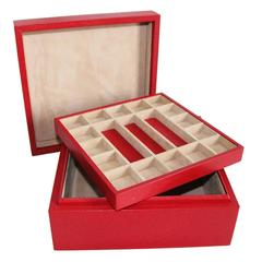 Gorgeous French Red Jewelry and Watches Box