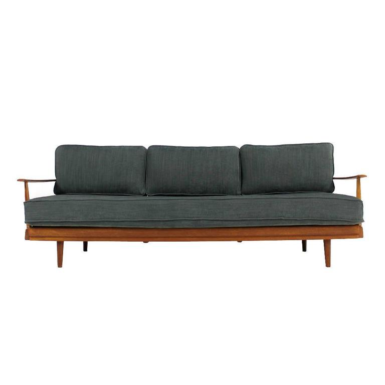 1960s teak daybed knoll antimott germany mid century. Black Bedroom Furniture Sets. Home Design Ideas