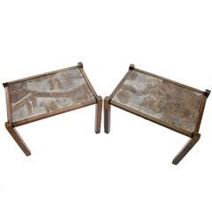 "Pair of ""TAO"" Side Tables by Philip and Kelvin LaVerne"