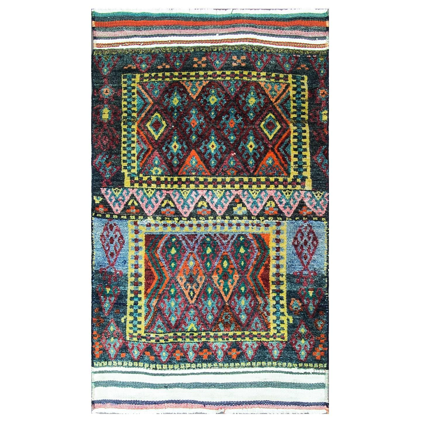 Unusual Kurdish Rug For Sale At 1stdibs