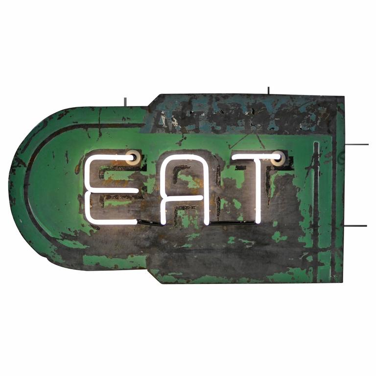 Double-Sided Neon Eat Sign, circa 1930s 1