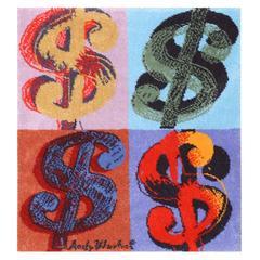 Andy Warhol Dollar Sign Vintage Rug