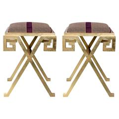Pair of Stools in the Manner of Maison Ramsay