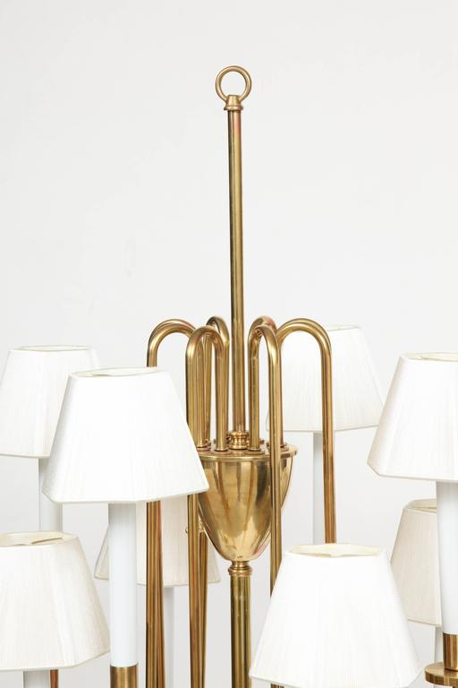 American Parzinger Style Brass Floor Lamp For Sale