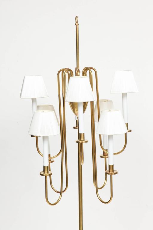 Parzinger Style Brass Floor Lamp For Sale 1