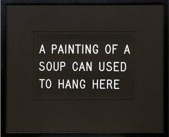 A Painting of a Soup Can Used to Hang Here (235/250), 1991