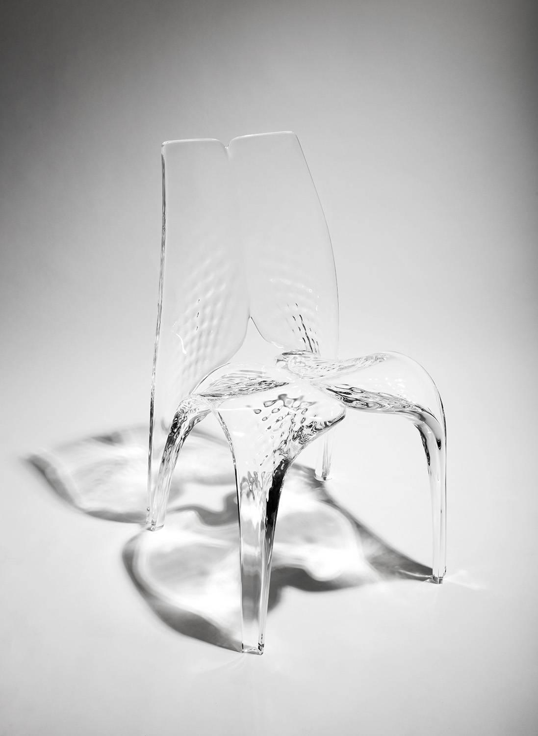 Chair 39 liquid glacial 39 by zaha hadid for sale at 1stdibs for Divano zaha hadid