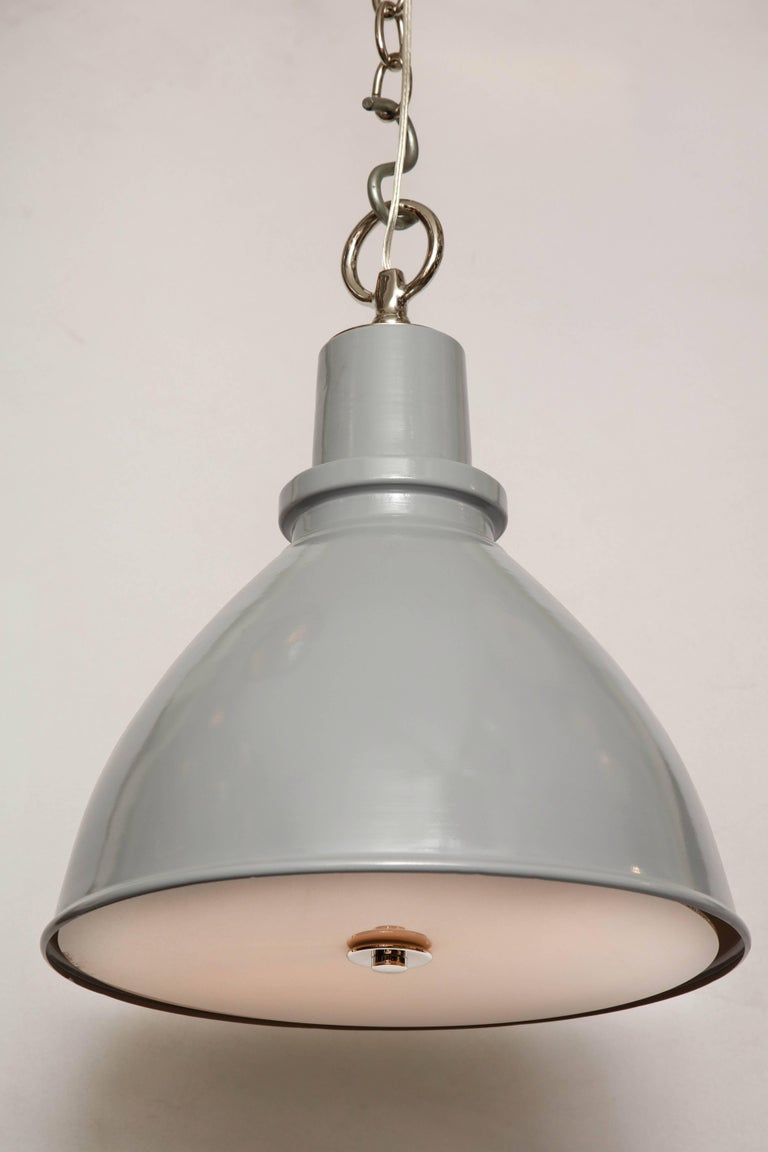 20th Century Highlander Light with Diffuser Grey For Sale