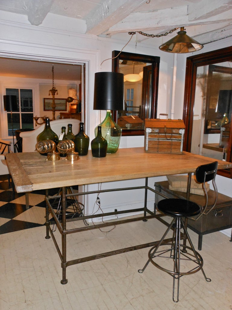 high iron kitchen island table at 1stdibs pictured here is the wrought iron siena kitchen island by