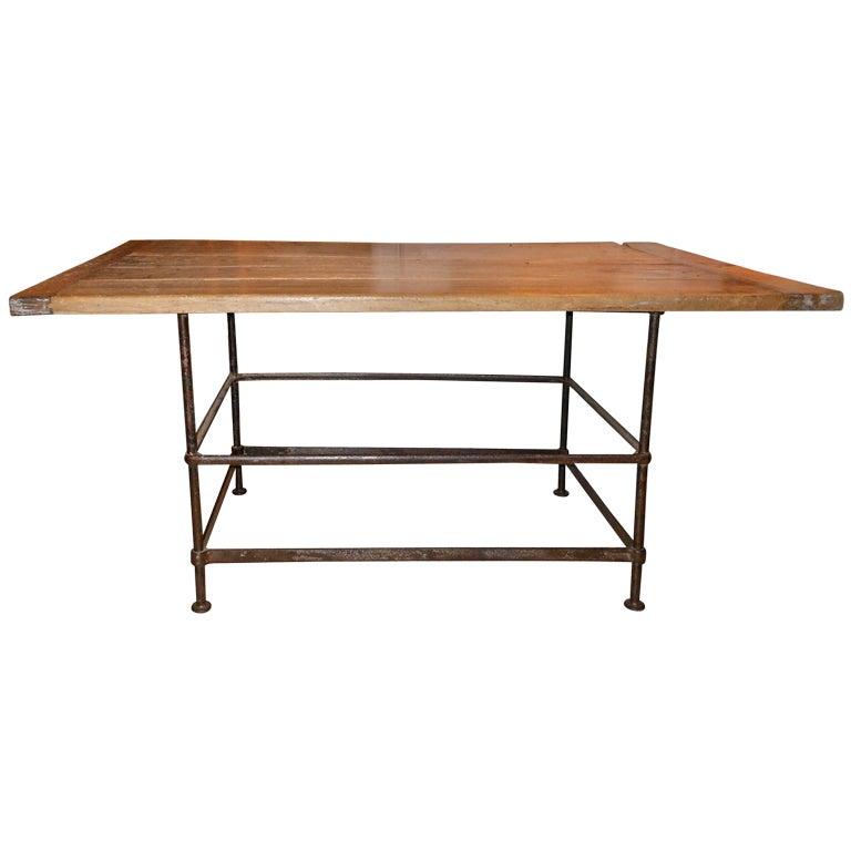 High iron kitchen island table at 1stdibs - High table kitchen ...