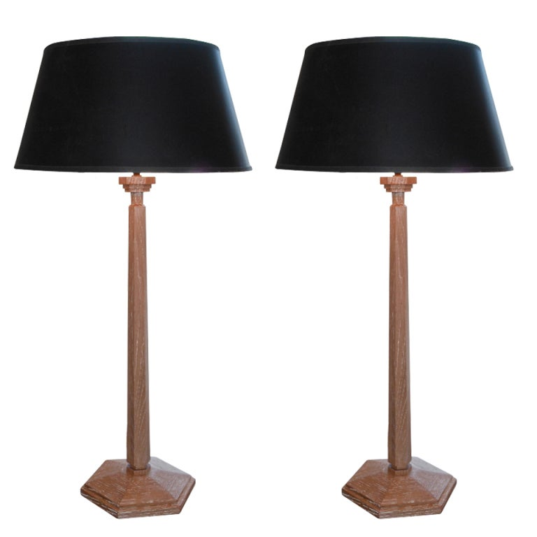 this unusual pair of french cerused lamps is no longer available
