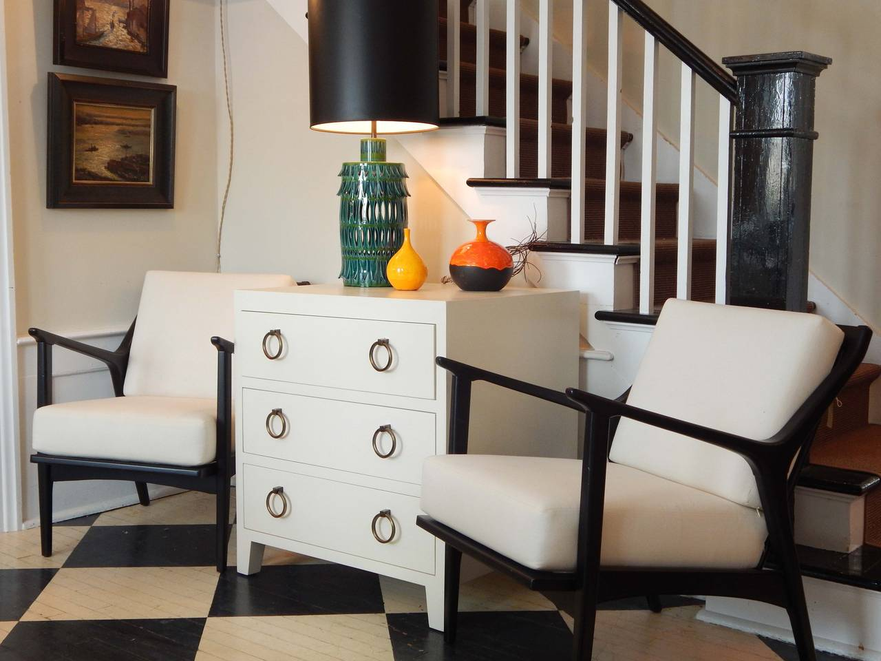 pair of textured hand painted dressers for sale at 1stdibs. Black Bedroom Furniture Sets. Home Design Ideas