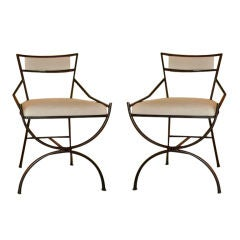 Pair of Mid Century Iron Chairs