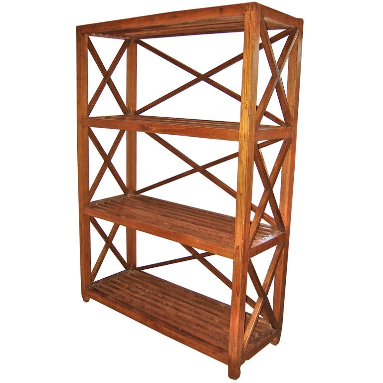 Slatted shelf etagere at 1stdibs - Etagere cases carrees ...