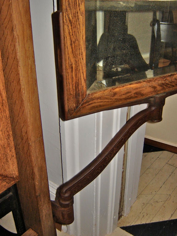 Oak 3 Panel Dressing Mirror At 1stdibs